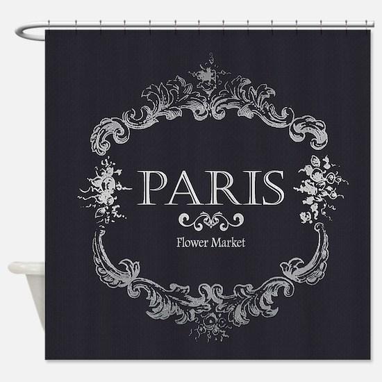 Cute Vintage paris Shower Curtain
