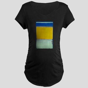 ROTHKO BLUE YELLOW Maternity T-Shirt