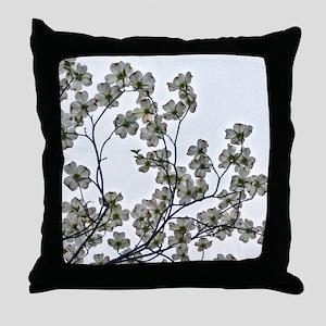 White Flowering Dogwood Throw Pillow