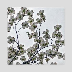 White Flowering Dogwood Queen Duvet