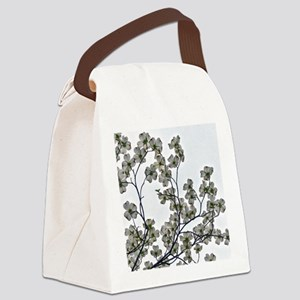 White Flowering Dogwood Canvas Lunch Bag