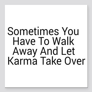 "Karma Square Car Magnet 3"" x 3"""