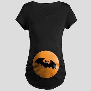 Halloween Bat Maternity Dark T-Shirt