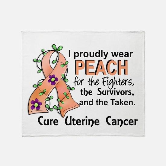 For Fighters Survivors Taken Uterine Throw Blanket