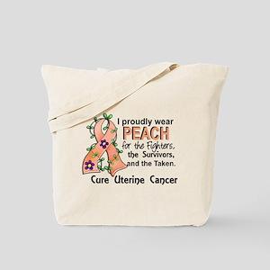 For Fighters Survivors Taken Uterine Canc Tote Bag