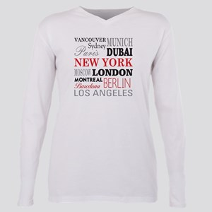 Cities of the World Plus Size Long Sleeve Tee