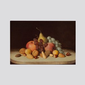 Still Life With Fruit, Duncanson Rectangle Magnet