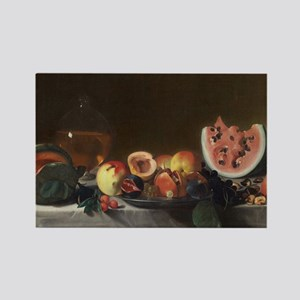 Still Life With Fruit, del Saraci Rectangle Magnet
