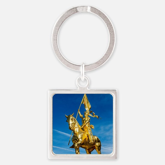 Cute Joan arc Square Keychain