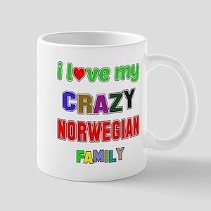 I love my crazy Norwegian family Mug