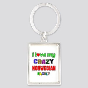 I love my crazy Norwegian family Portrait Keychain