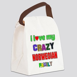 I love my crazy Norwegian family Canvas Lunch Bag