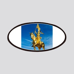 Golden lady on a golden horse back - 600 yea Patch