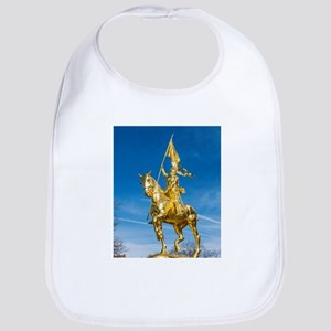 Golden lady on a golden horse back - 600 years Bib