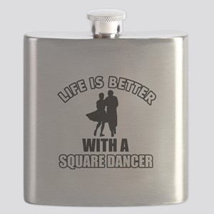 Square Dancer Designs Flask