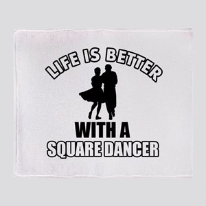 Square Dancer Designs Throw Blanket