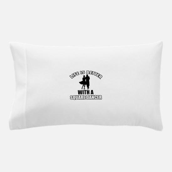 Square Dancer Designs Pillow Case