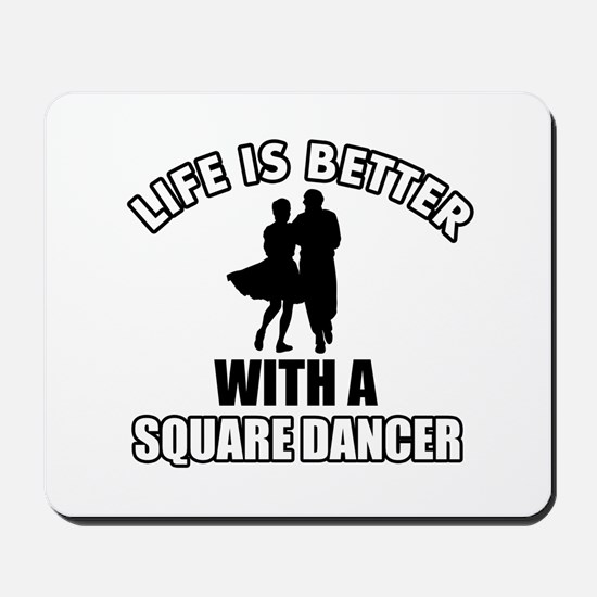Square Dancer Designs Mousepad