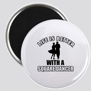 Square Dancer Designs Magnet