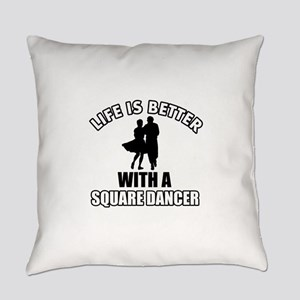Square Dancer Designs Everyday Pillow