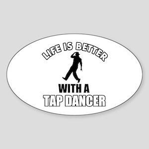 Tap Dancer Designs Sticker (Oval)