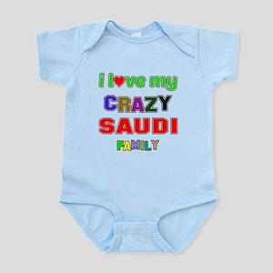 I love my crazy Saudi family Infant Bodysuit