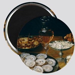Dishes With Oysters, Osias Beert Magnet