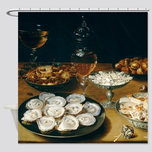 Dishes With Oysters, Osias Beert Shower Curtain