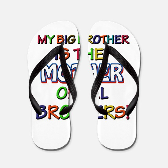 Funny Big Brother family designs Flip Flops