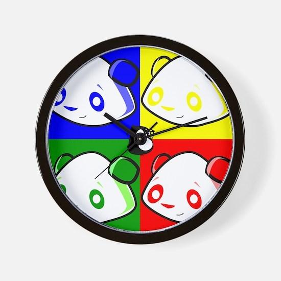 Warhole Pandas Wall Clock