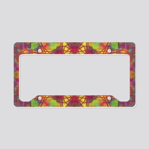 Square Flowers 1 License Plate Holder