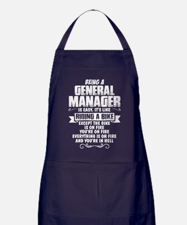 Being A General Manager... Apron (dark)