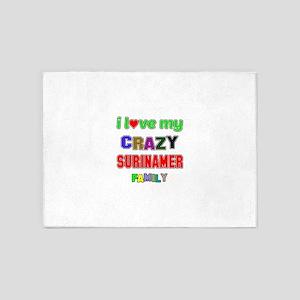 I love my crazy Surinamer family 5'x7'Area Rug