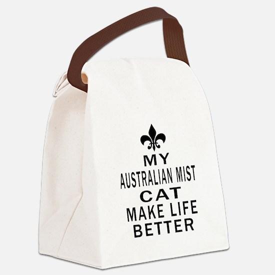 Australian Mist Cat Make Life Bet Canvas Lunch Bag