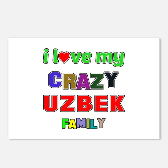 I love my crazy Uzbek fam Postcards (Package of 8)