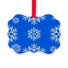 Snow Royal Blue Ornament