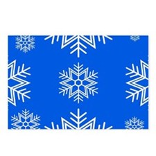 Snow Royal Blue Postcards (Package of 8)