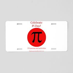 Pi Day Aluminum License Plate