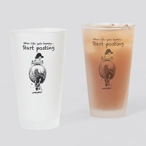 Funny Horse Bumpy Drinking Glass
