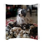 Guarding the wool Woven Throw Pillow