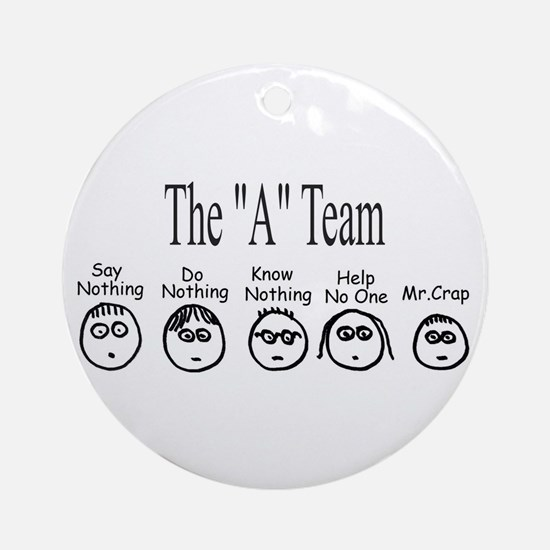 The A Team Round Ornament