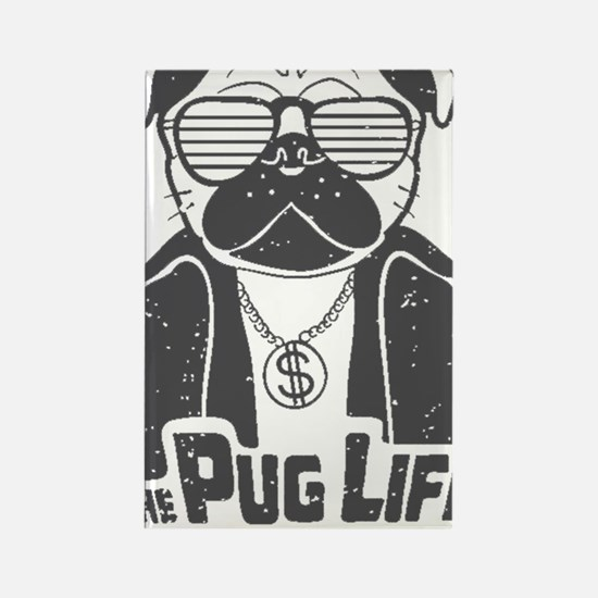 Cute I love pugs Rectangle Magnet