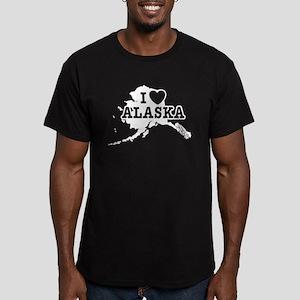 I Love Alaska Men's Fitted T-Shirt (dark)