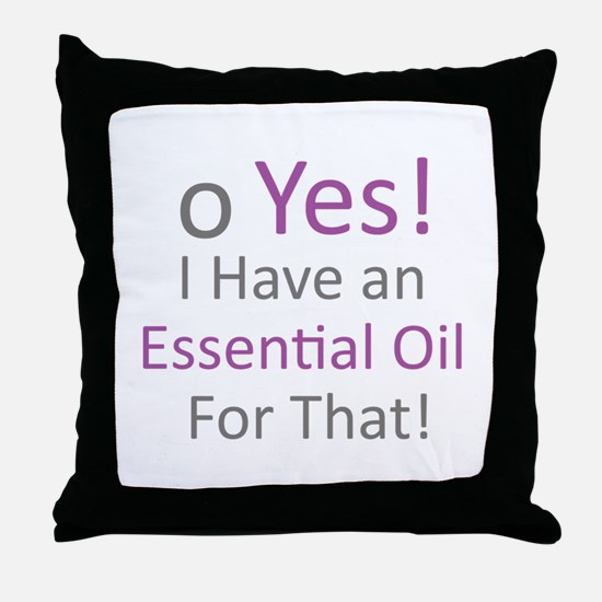 Essential Oils Throw Pillow