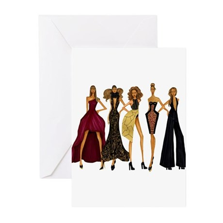 Group Divas Greeting Cards