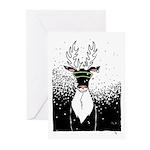 Snow Storm Reindeer Greeting Cards (10) Happy Holi