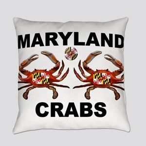 MARYLAND CRABS Everyday Pillow
