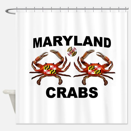 MARYLAND CRABS Shower Curtain