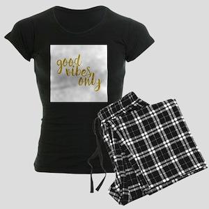 good vibes only Women's Dark Pajamas
