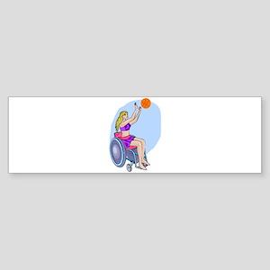 Wheelchair shot basketball Bumper Sticker